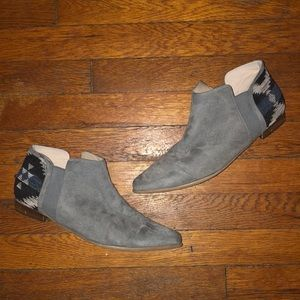 Plume farylrobin anthropologie grey suede booties